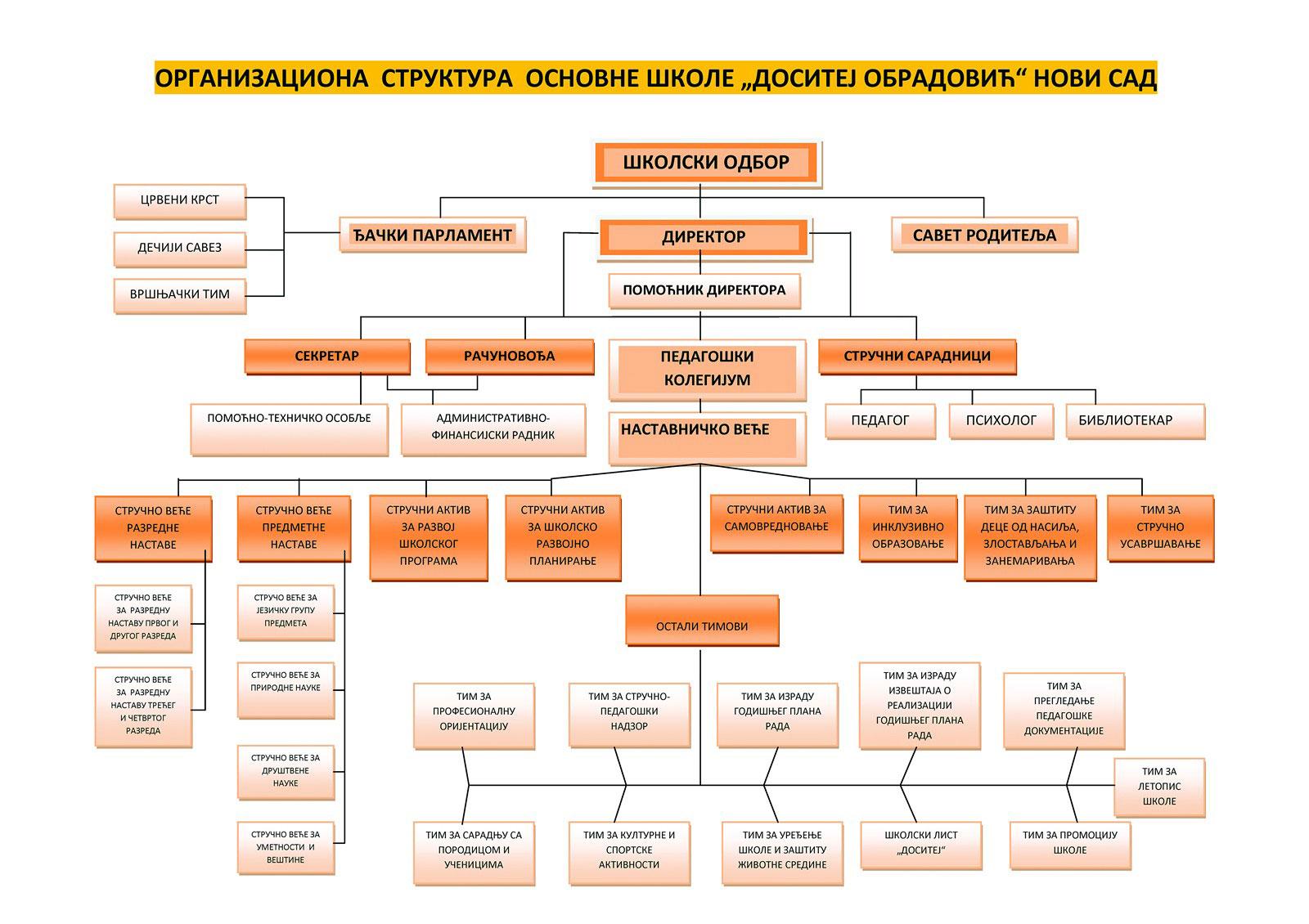 organizaciona struktura skole
